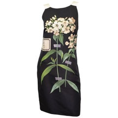 Carolina Herrera Black Floral Print Dress