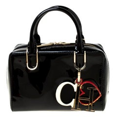 Carolina Herrera Black Patent Crossbody Bag