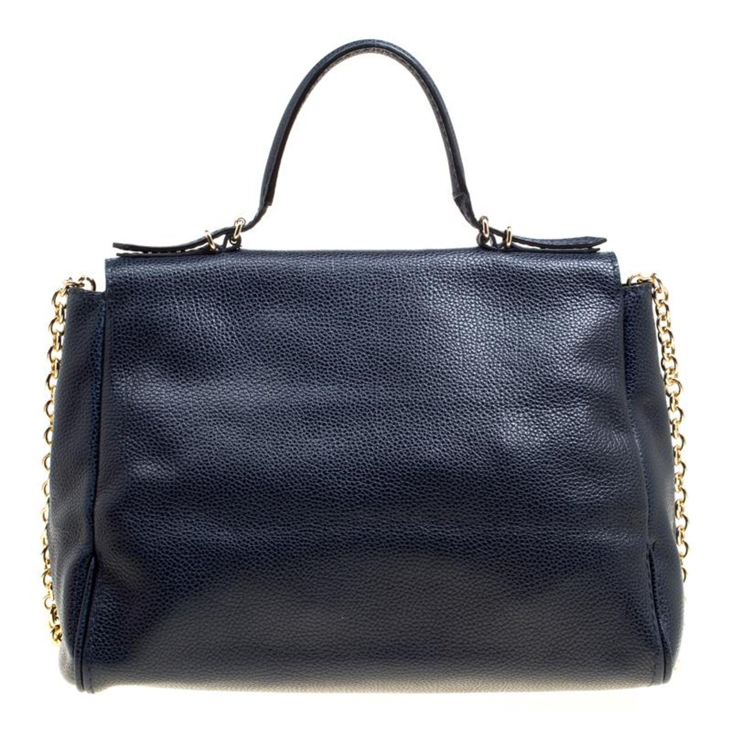 Carolina Herrera Blue Leather Minuetto Top Handle Flap Shoulder Bag at  1stdibs 7e0a7523a8943