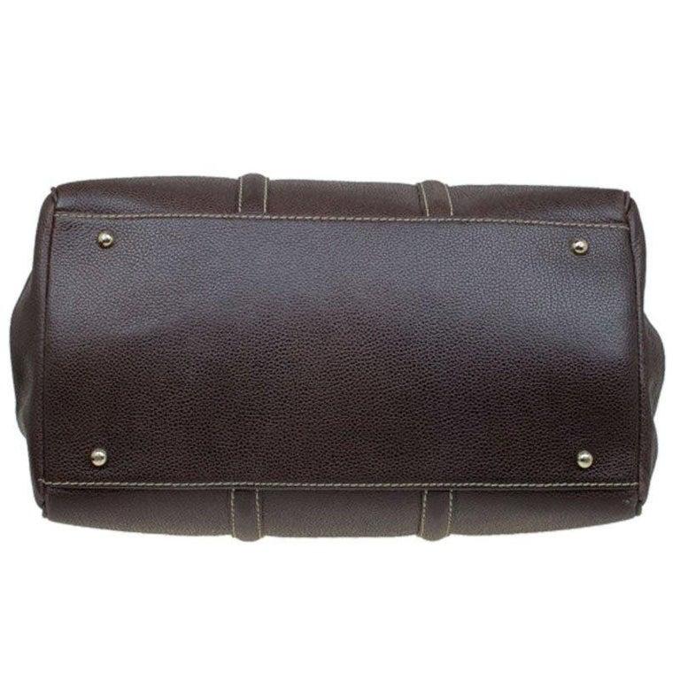 Carolina Herrera Brown Leather Matteo Tote For Sale 1
