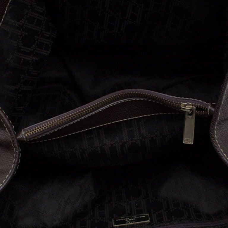 Carolina Herrera Brown Leather Matteo Tote For Sale 2