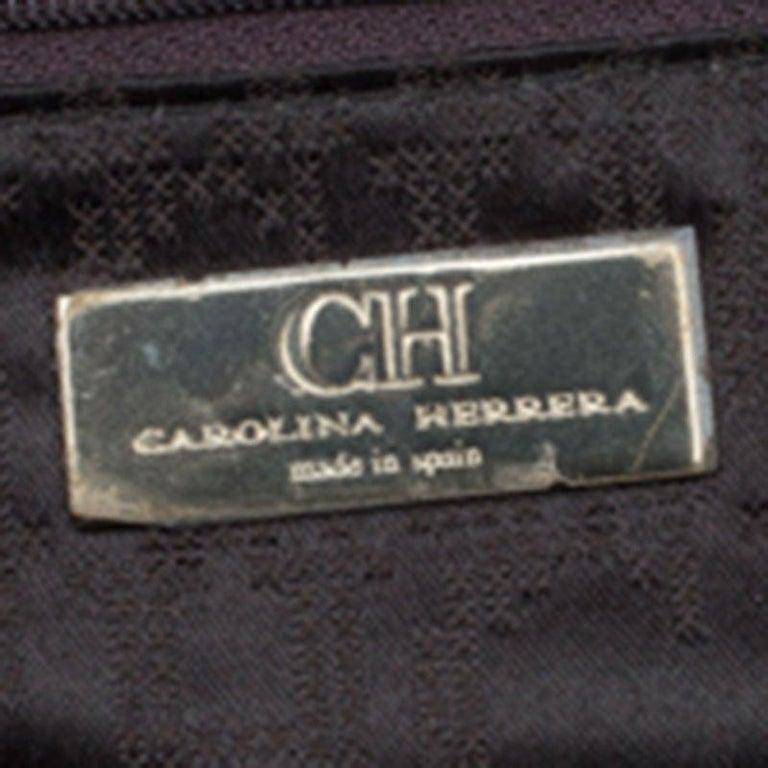 Carolina Herrera Brown Leather Matteo Tote For Sale 3