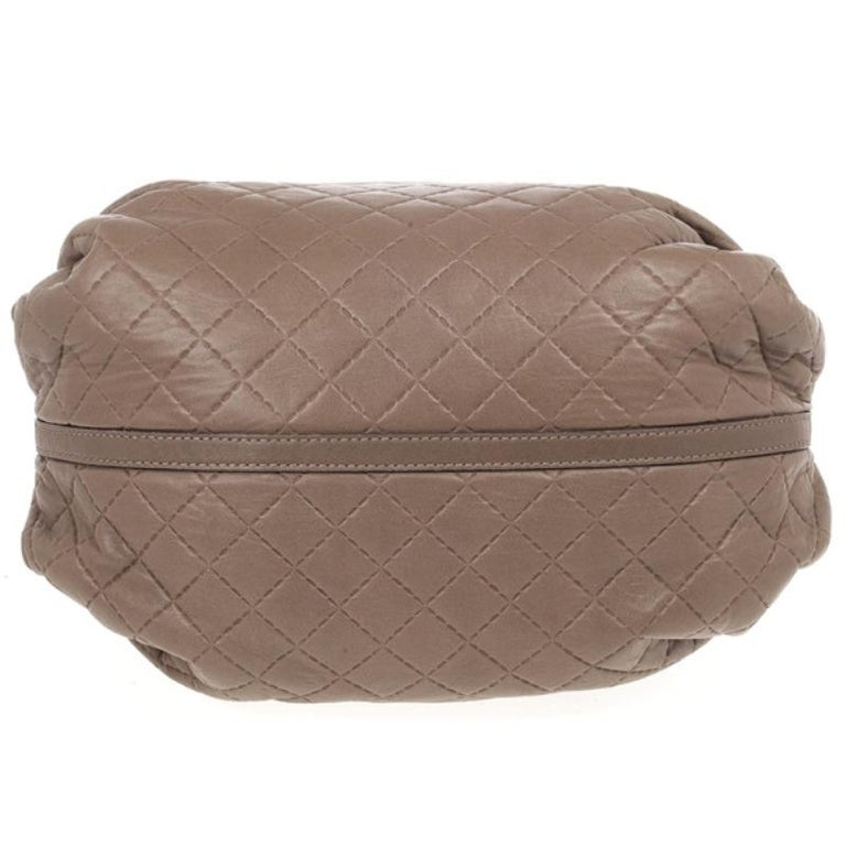 Carolina Herrera Brown Quilted Convertible Tote For Sale 1