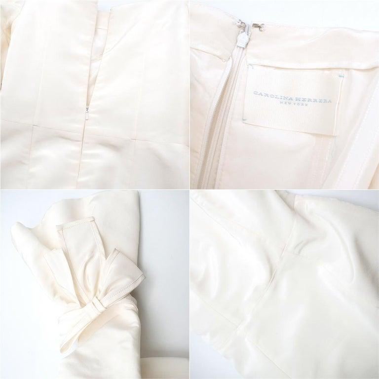 Carolina Herrera Faye Off The Shoulder Silk Faille Mermaid Gown XS For Sale 2