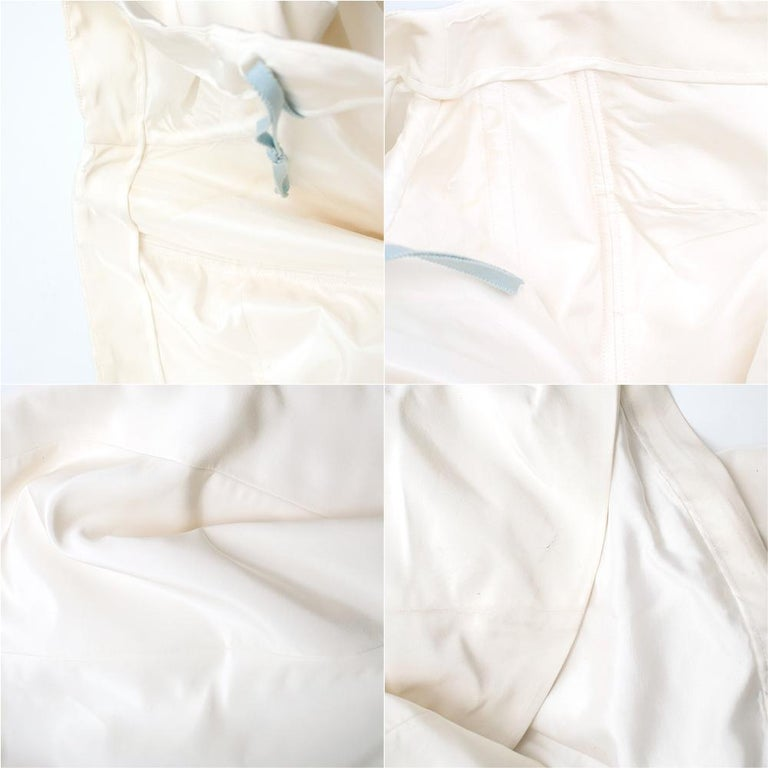 Carolina Herrera Faye Off The Shoulder Silk Faille Mermaid Gown XS For Sale 3