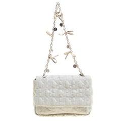 Carolina Herrera Grey Monogram Nylon Chain Shoulder Bag