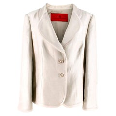 Carolina Herrera Linen Blend Blazer Jacket UK 8