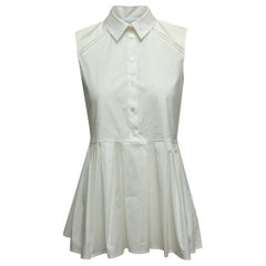 Carolina Herrera White Sleeveless Top