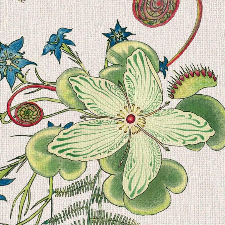 Carolina Natürliche Cremefarben, Tropisch-botanische Tapete 3