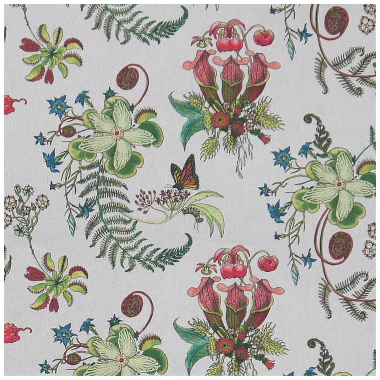 Carolina Natural in Cream Tropical Botanical Wallpaper For Sale