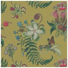 Carolina Blumenmotiv in Cornbred, Tropisch-botanische Tapete