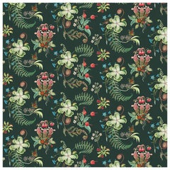 Carolina Posies in Forest Tropical Botanical Wallpaper
