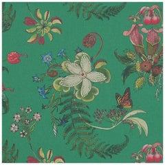 Carolina Monarch In Cream Tropical Botanical Wallpaper For