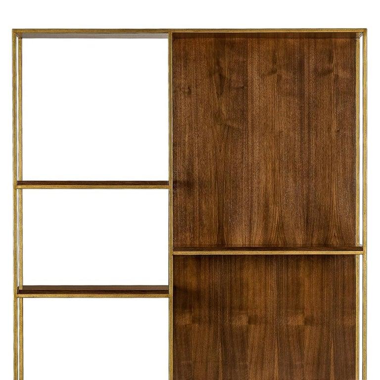 Dutch Carolina Shelf in Solid Oak and Walnut Structure For Sale