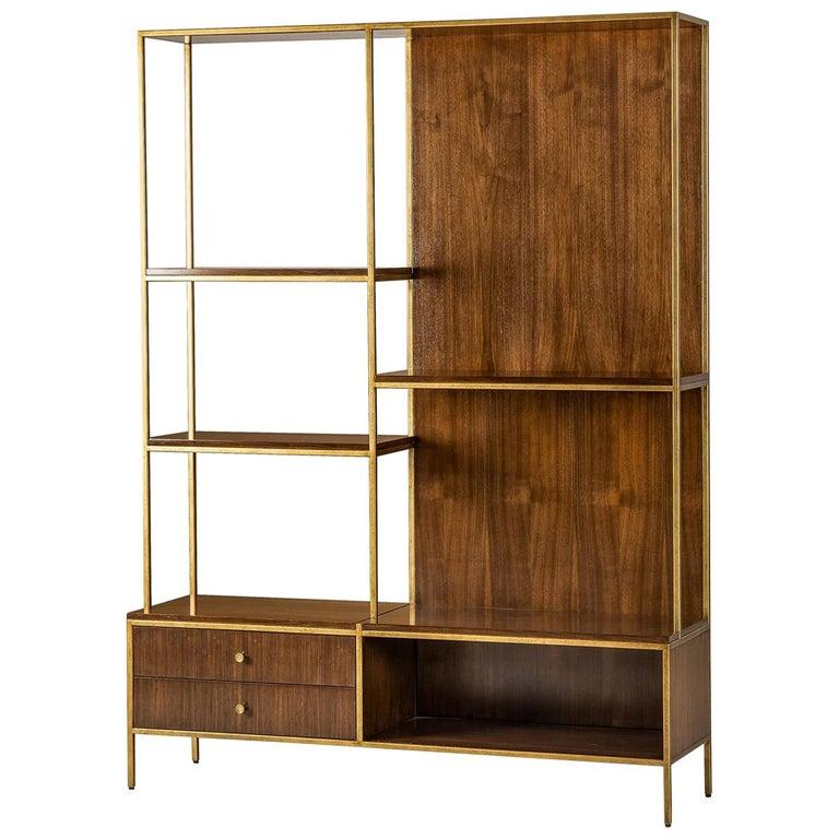 Carolina Shelf in Solid Oak and Walnut Structure For Sale