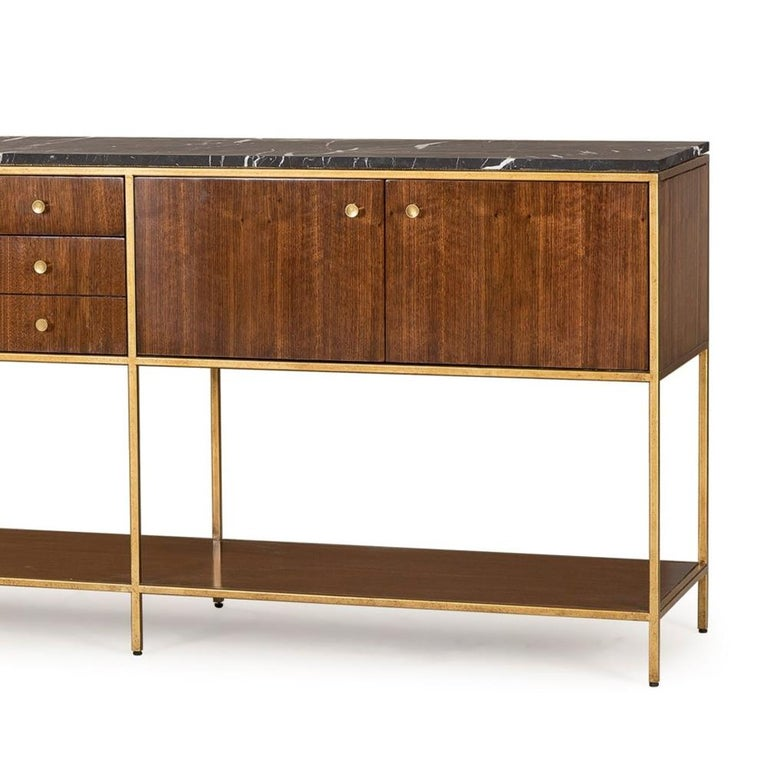 Carolina Sideboard with Black Marquina Marble Top In New Condition For Sale In Paris, FR