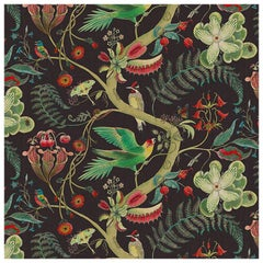 Carolina Tree of Life in Prunus Tropical Botanical Wallpaper