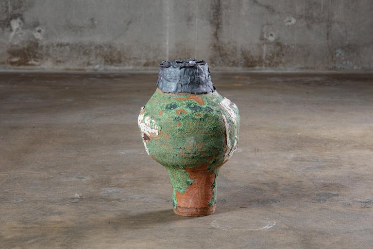 Caroline Blackburn high fired stoneware vessel, 2019.