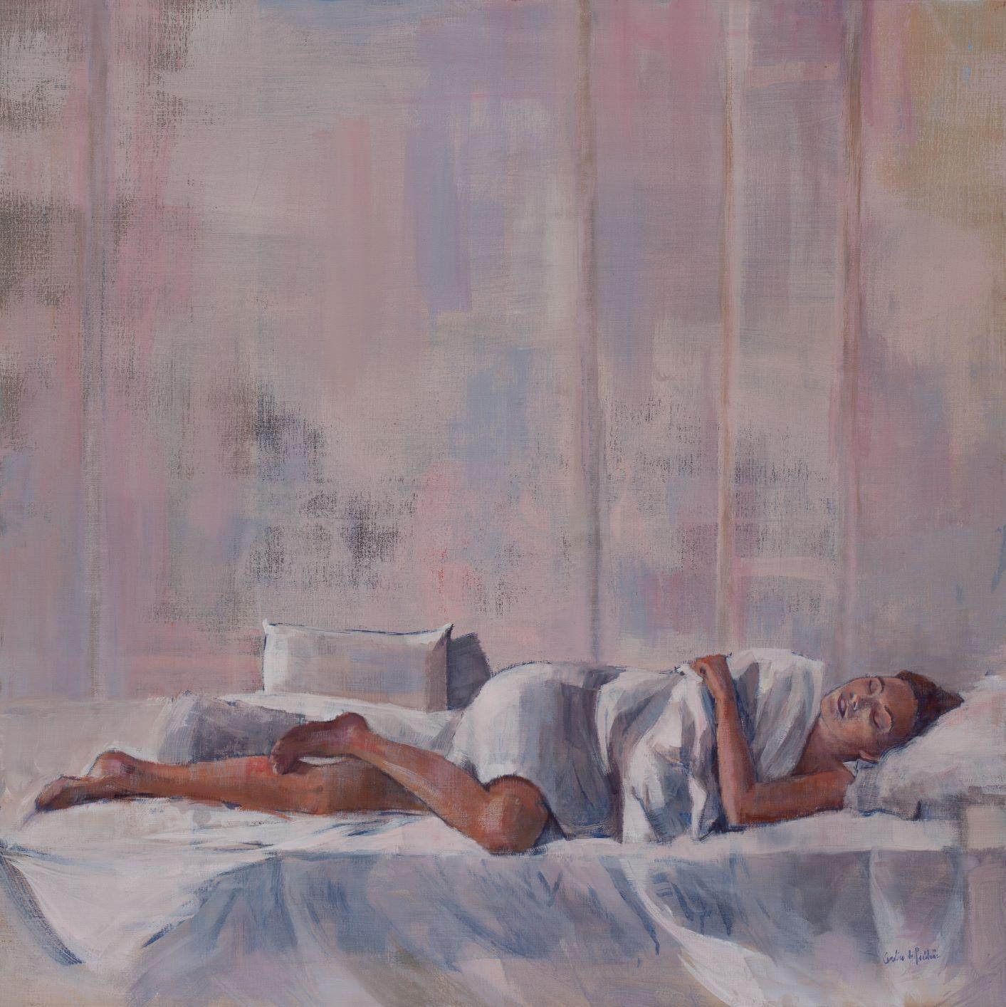 French Contemporary Art by Caroline de Piedoue - Le Lit Blanc