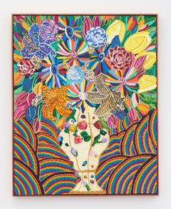 "Caroline Larsen, ""Flowers with Meissen Porcelain"", oil on canvas, 2019"