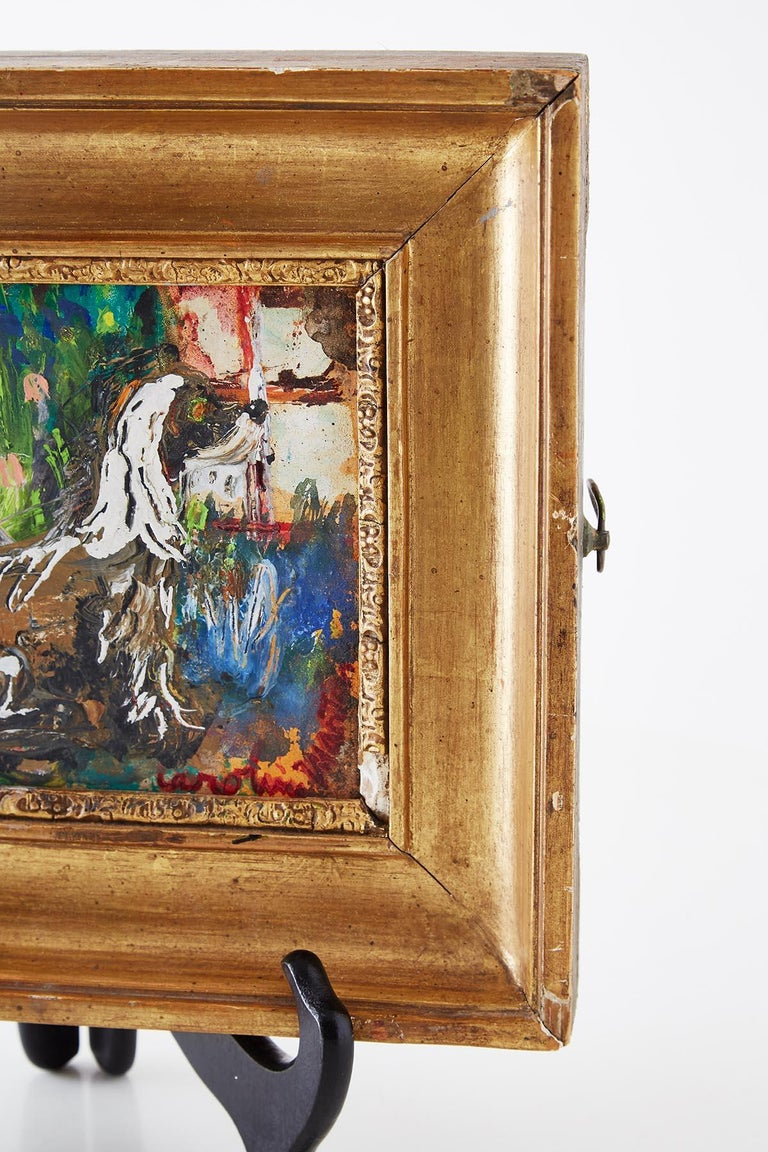 20th Century Caroline Louise Martin Painting Afghan at Window For Sale