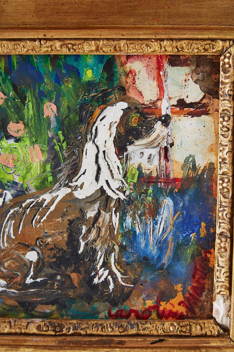 Caroline Louise Martin Painting Afghan at Window For Sale 3