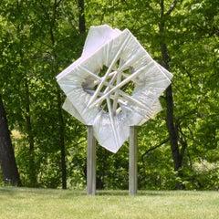 INNER VIEW _Nexus_Interlocked, Abstract Marble Sculpture, Outdoor, Large
