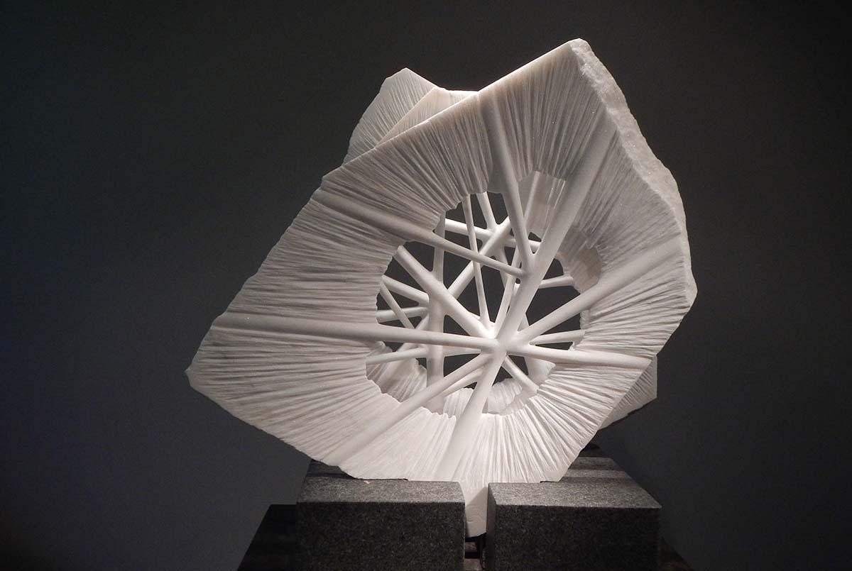 """INNER VIEW_Nexus_cellular III""  Organic, Abstract Marble Sculpture"