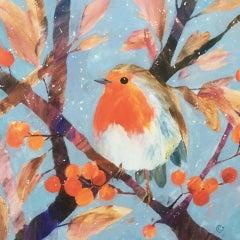 Carolyn Carter, Robin, Affordable Art, Original Bird Painting, Art Online