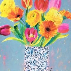 Carolyn Carter, Spring's Here, Contemporary Still Life Art, Original Painting