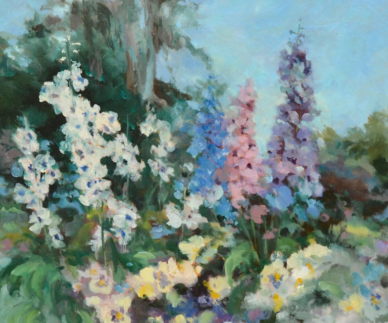 Garden in Bloom - Floral Landscape  - American Impressionist Painting by Carolyn Hofstetter