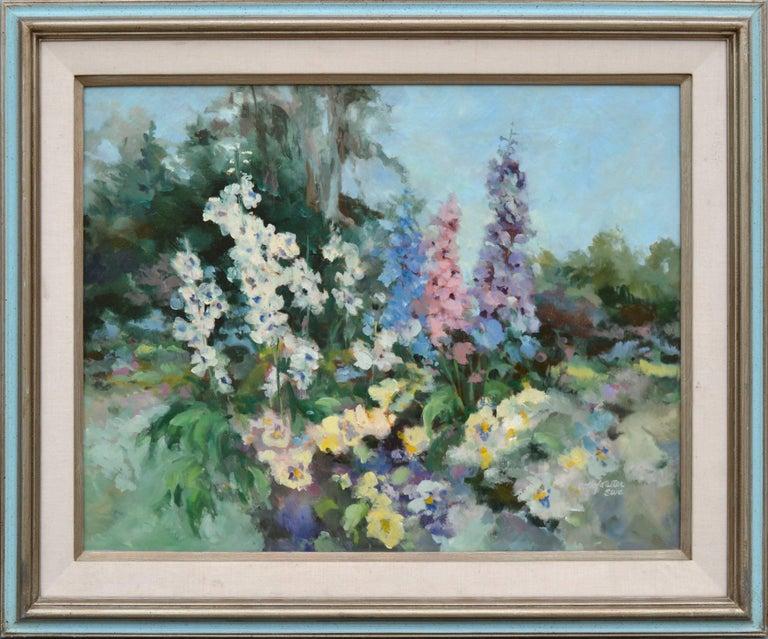 Carolyn Hofstetter Still-Life Painting - Garden in Bloom - Floral Landscape