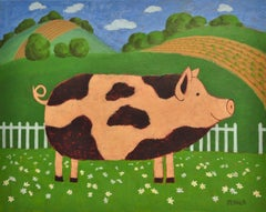 Daisy Pig, Original Painting
