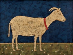 Golden Goat, Original Painting