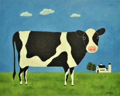 Meadow Cow, Original Painting