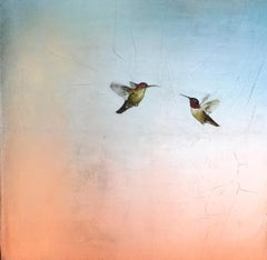 Two Hummers in Soft Pastel