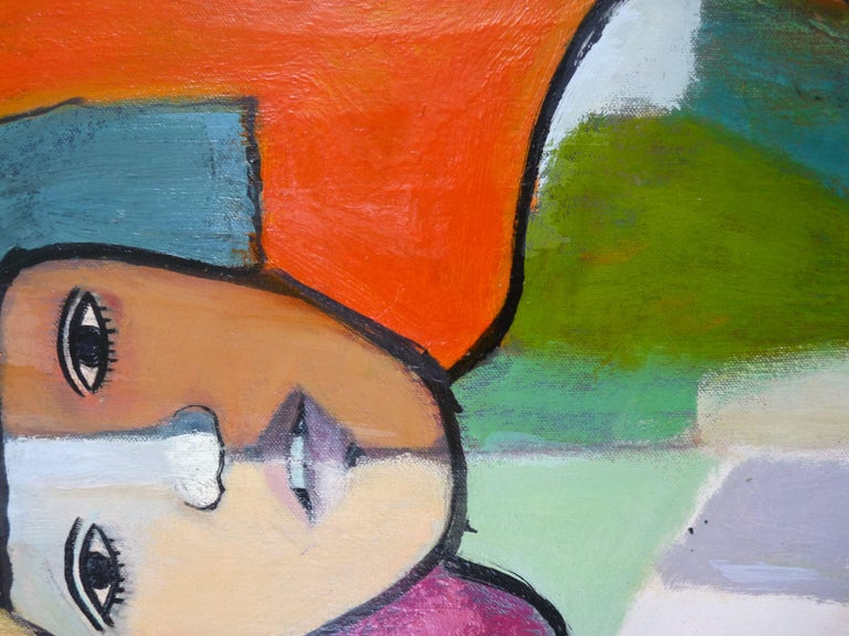 COLORFUL NUDE, Painting, Oil on Canvas 1