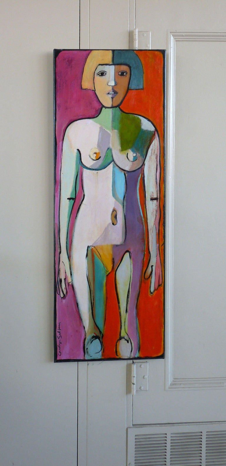 COLORFUL NUDE, Painting, Oil on Canvas 2
