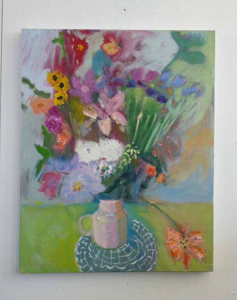 FLOWERPOT, Painting, Oil on Canvas For Sale 2