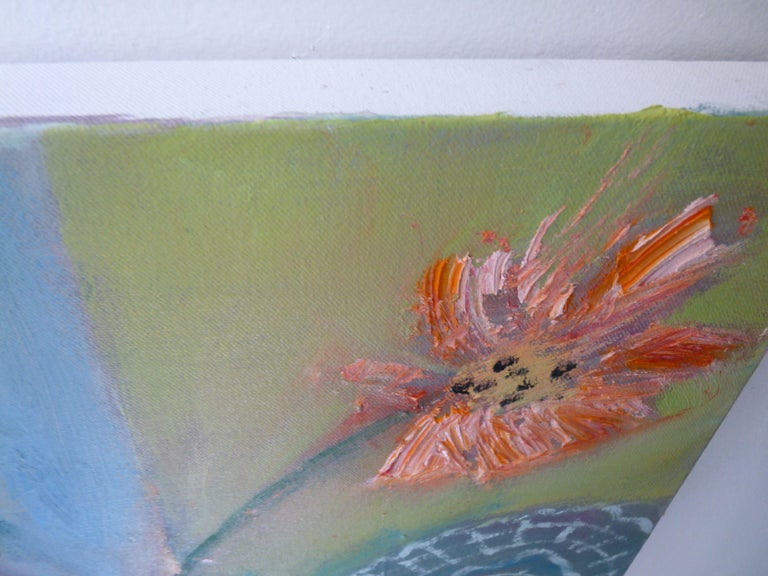 FLOWERPOT, Painting, Oil on Canvas For Sale 3