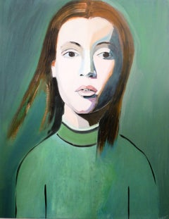 GIRL IN GREEN, Painting, Oil on Canvas