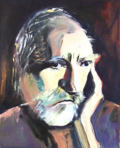 OLD MAN, Painting, Oil on Canvas