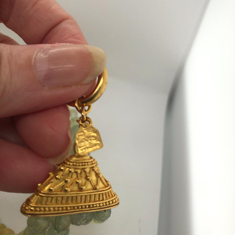 Carolyn Tyler 22 and 18 Carat Gold and Peridot Strand For Sale 8