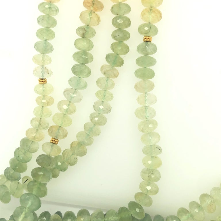 Women's Carolyn Tyler 22 and 18 Carat Gold and Peridot Strand For Sale