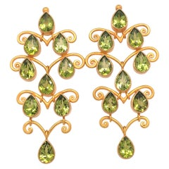 Carolyn Tyler Baghdad Peridot Chandelier Earrings