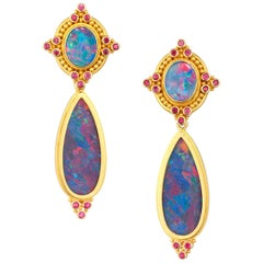 Carolyn Tyler Boulder Opal Earrings