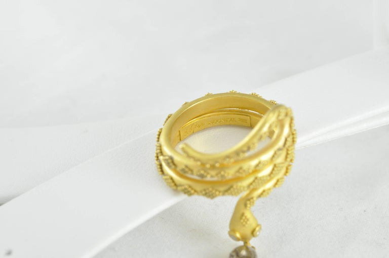 Carolyn Tyler Gold Snake Ring In As New Condition For Sale In Dallas, TX