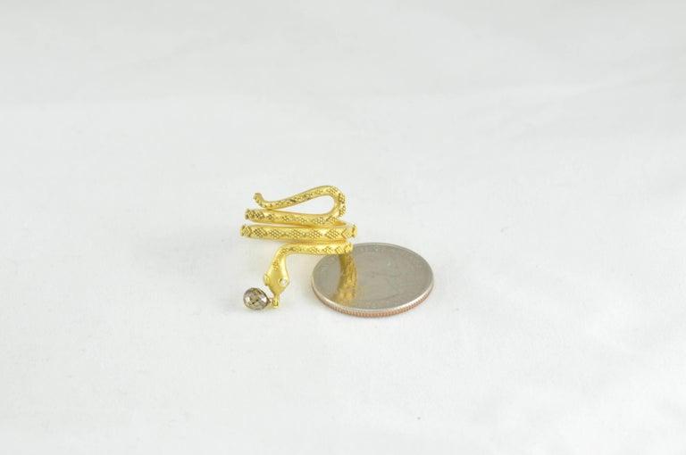 Women's Carolyn Tyler Gold Snake Ring For Sale