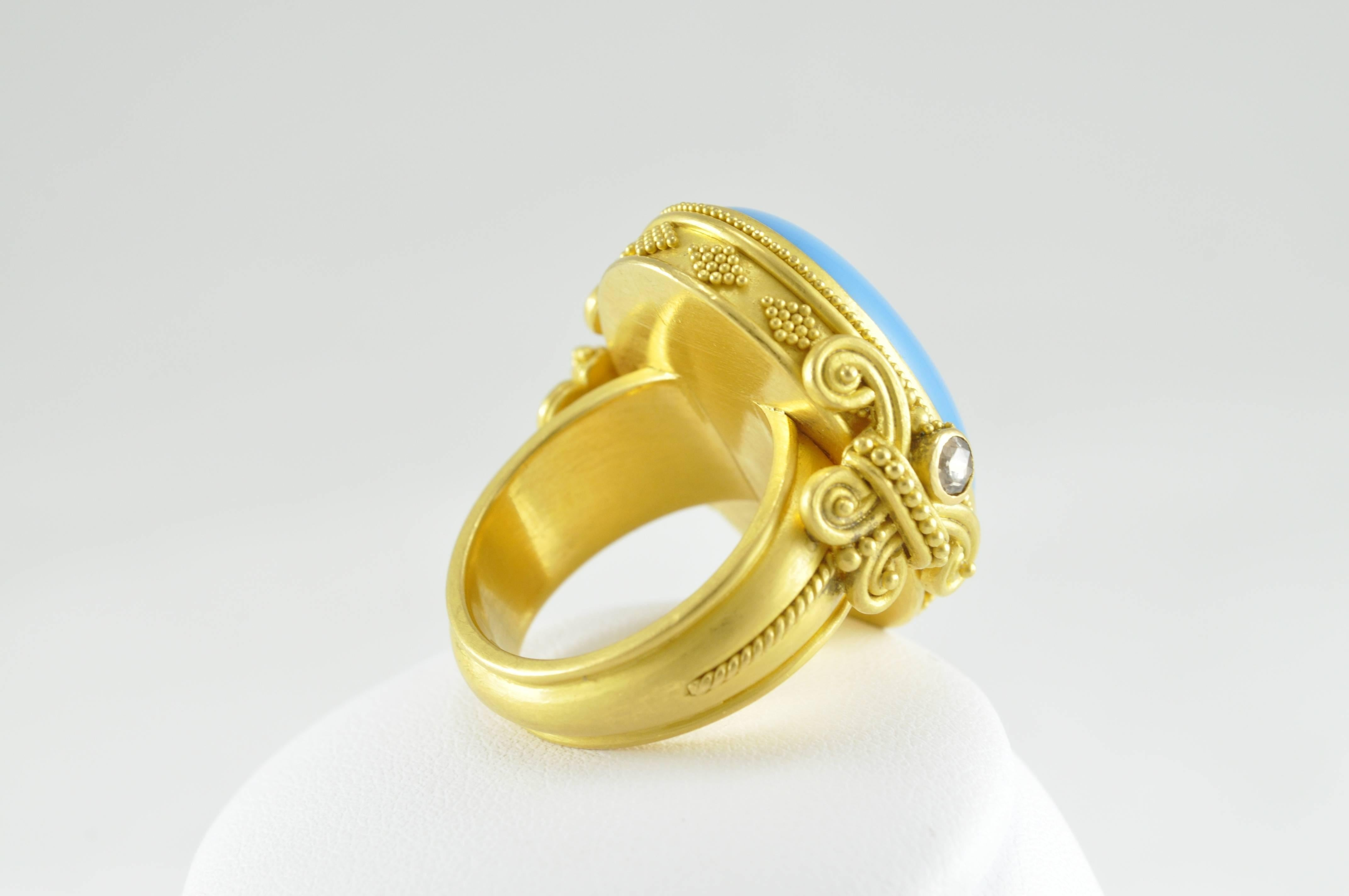with celtic white knots diamond gold ring