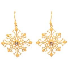 Carolyn Tyler Snowflake Earrings